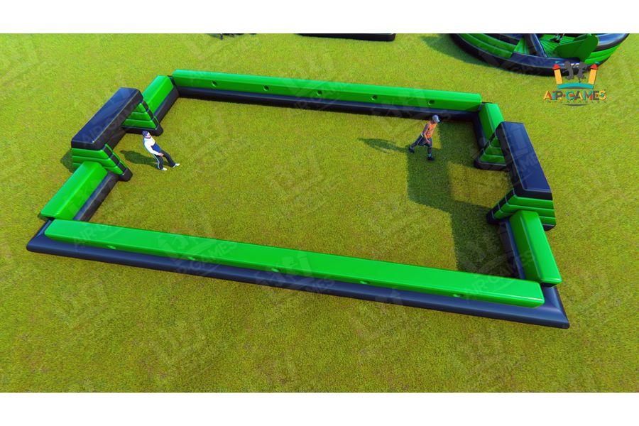 Футбольное поле надувное с воротами для тимбилдинга от компании Air-Games за 199320 руб.