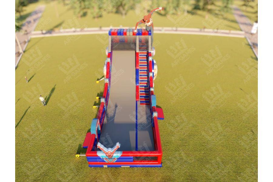 Надувной батут - Зимняя горка Человек Паук Spider Man. Горка 6м от компании Air-Games за 945000 руб.