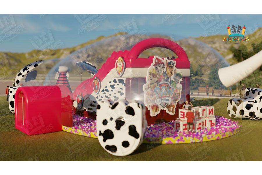 Воздухоопорный купол - Детский аттракцион Щенячий патруль 20х10х5 м от компании Air-Games за 699000 руб.